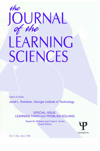 Learning Through Problem Solving A Special Double Issue of the Journal of the Learning Sciences book cover