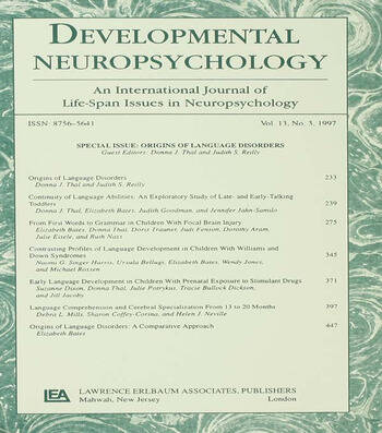 Origins of Language Disorders A Special Issue of developmental Neuropsychology book cover