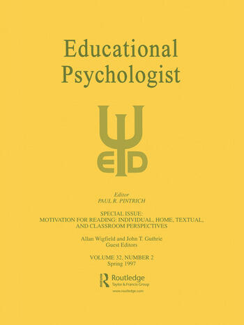 Motivation for Reading: Individual, Home, Textual, and Classroom Perspectives A Special Issue of educational Psychologist book cover