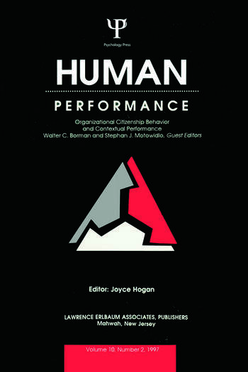 Organizational Citizenship Behavior and Contextual Performance A Special Issue of Human Performance book cover