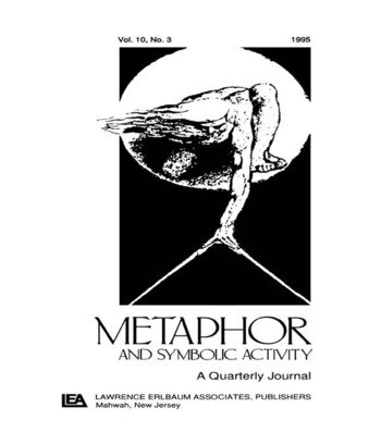 Metaphor and Philosophy A Special Issue of metaphor and Symbolic Activity book cover