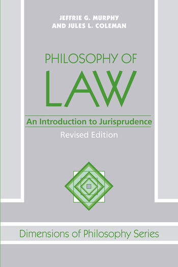 Philosophy Of Law An Introduction To Jurisprudence book cover