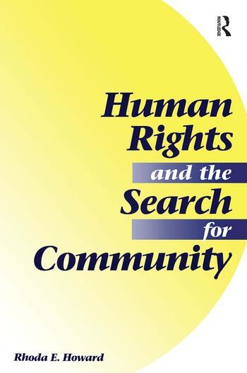 Human Rights And The Search For Community book cover