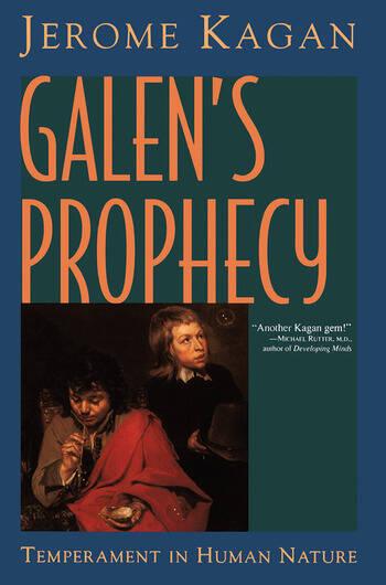 Galen's Prophecy Temperament In Human Nature book cover