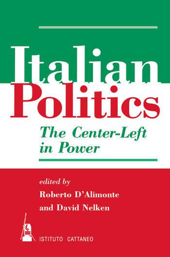 Italian Politics The Center-left In Power book cover