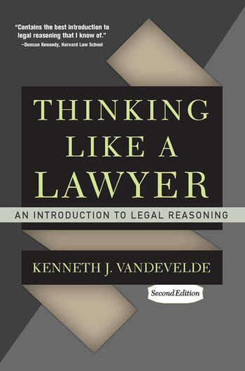 Thinking Like a Lawyer An Introduction to Legal Reasoning book cover