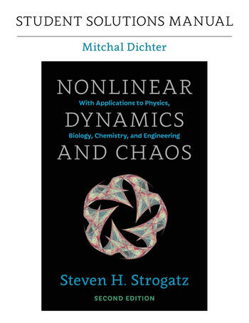 Student Solutions Manual for Nonlinear Dynamics and Chaos, 2nd edition book cover