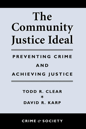 The Community Justice Ideal book cover