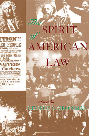 The Spirit Of American Law An Anthology book cover