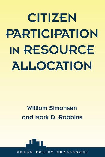 Citizen Participation In Resource Allocation book cover