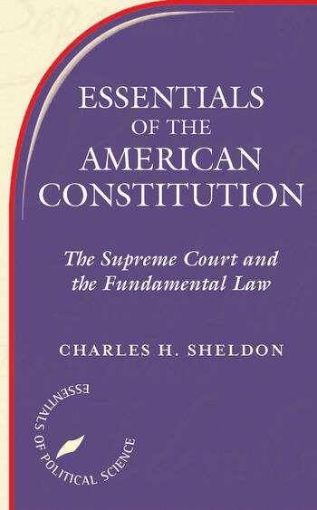 Essentials Of The American Constitution book cover