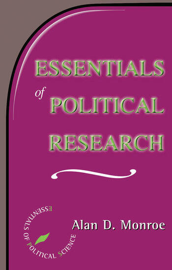 Essentials Of Political Research book cover