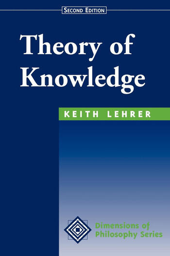 Theory Of Knowledge Second Edition book cover