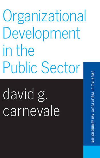 Organizational Development In The Public Sector book cover