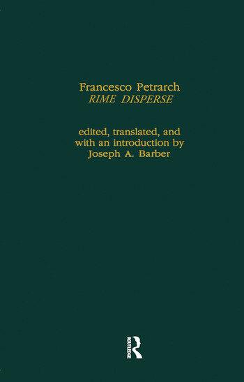 Francesco Petrarch's Rime Disperse, Series A book cover