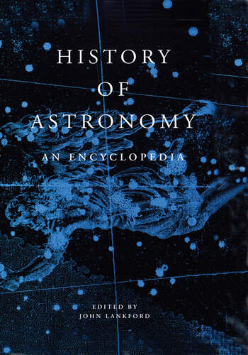 History of Astronomy An Encyclopedia book cover