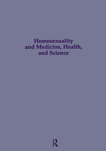 Homosexuality & Medicine, Health & Science book cover