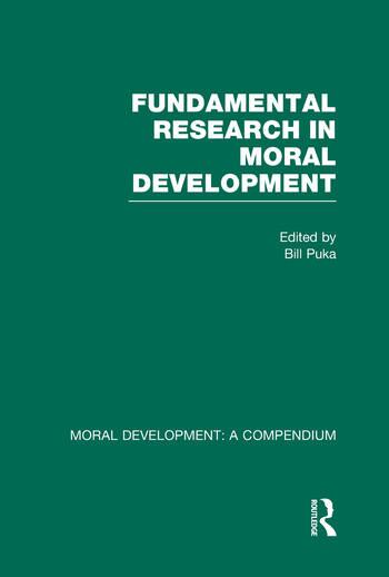 Fundamental Research in Moral Development book cover