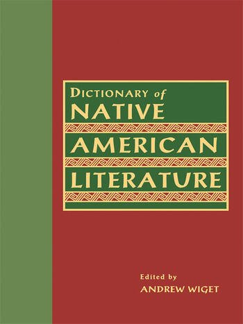 Dictionary of Native American Literature book cover