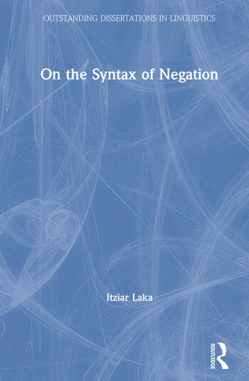 On the Syntax of Negation book cover