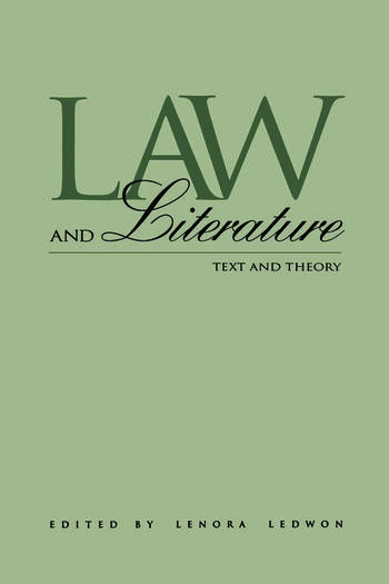 Law and Literature Text and Theory book cover