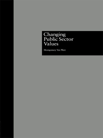 Changing Public Sector Values book cover
