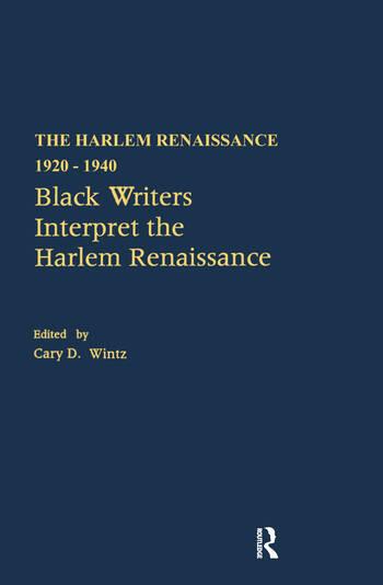 Black Writers Interpret the Harlem Renaissance book cover