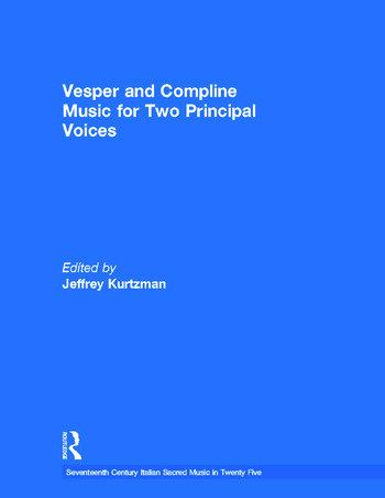 Vesper and Compline Music for Two Principal Voices Vesper & Compline Music for Two Principal Voices book cover
