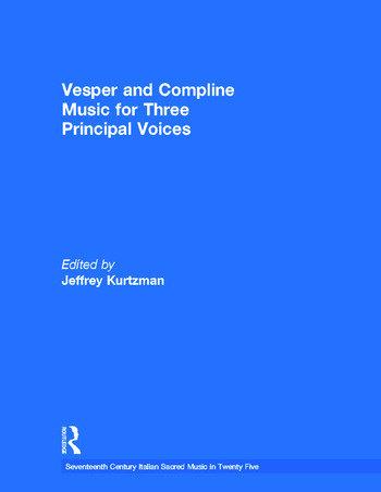 Vesper and Compline Music for Three Principal Voices book cover