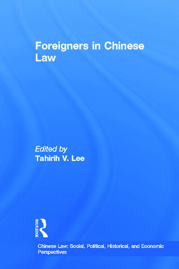 Foreigners in Chinese Law book cover