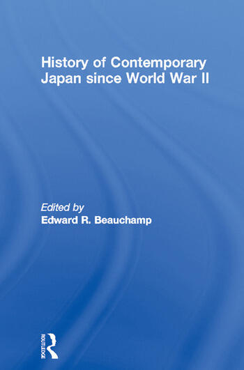History of Contemporary Japan since World War II book cover