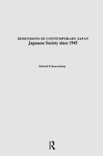Japanese Society since 1945 book cover