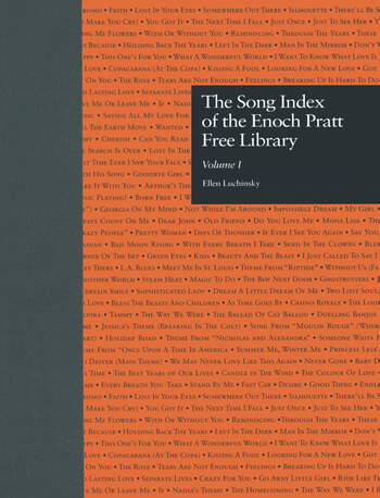 The Song Index of the Enoch Pratt Free Library book cover