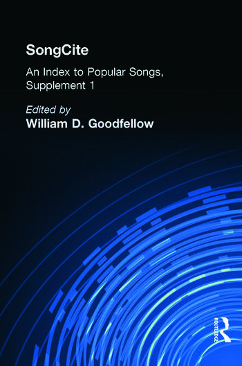 SongCite An Index to Poular Songs, Supplement 1 book cover