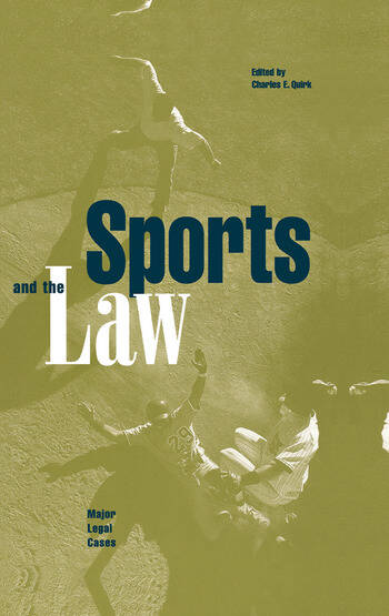 Sports and the Law Major Legal Cases book cover