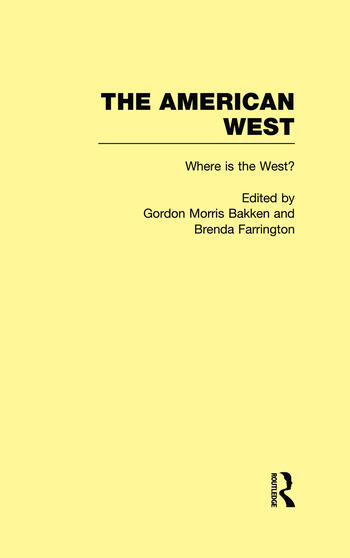 Where is the West? The American West book cover