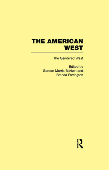 The Gendered West The American West book cover