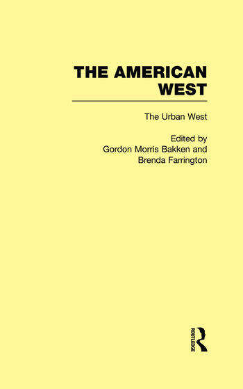 The Urban West The American West book cover
