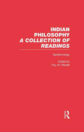 Epistemology Indian Philosophy book cover