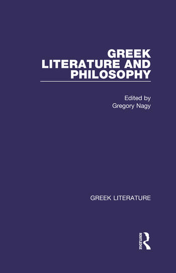 Greek Literature and Philosophy Greek Literature book cover