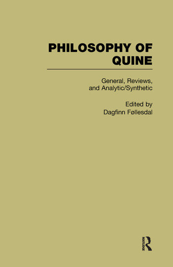 General, Reviews, and Analytic/Synthetic Philosophy of Quine book cover