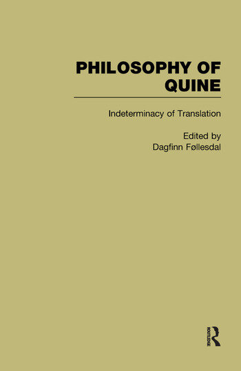 Indeterminacy of Translation Philosophy of Quine book cover