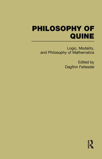 Logic Philosophy of Quine book cover