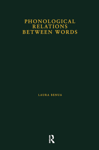 Phonological Relations Between Words book cover