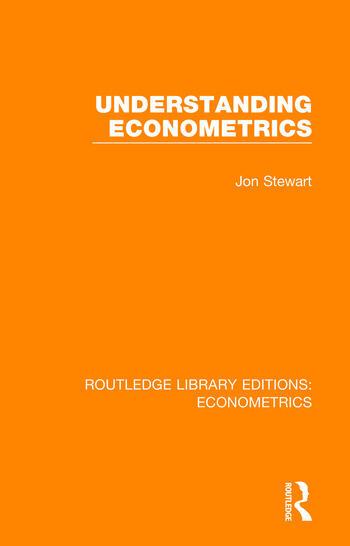 Understanding Econometrics book cover