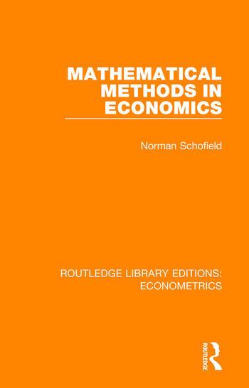 Mathematical Methods in Economics book cover