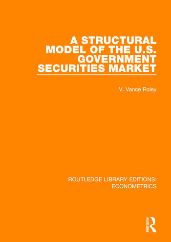 A Structural Model of the U.S. Government Securities Market book cover