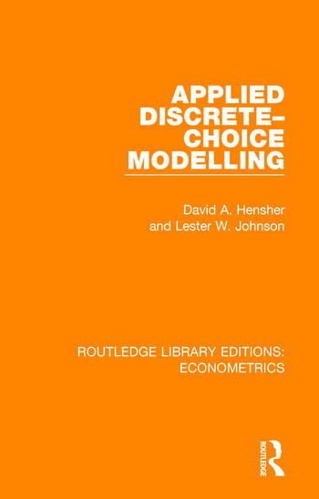 Applied Discrete-Choice Modelling book cover