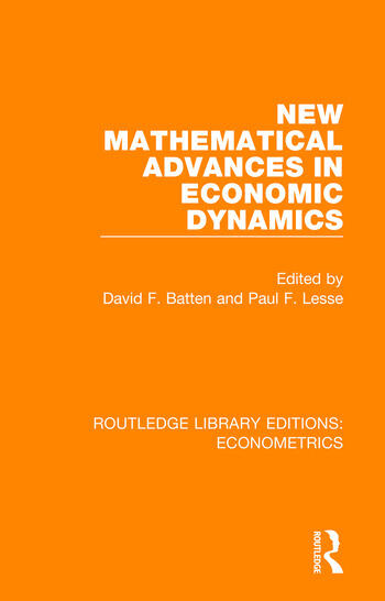 New Mathematical Advances in Economic Dynamics book cover
