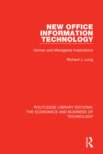 New Office Information Technology Human and Managerial Implications book cover